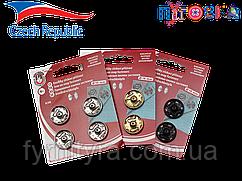 Кнопки KOH-I-NOOR набор Чехия №7 19мм черные, никель