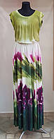 Длинное летнее салатовое платье(Италия)