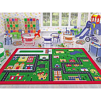Ковер в детскую комнату Confetti - Town зеленый 133*190