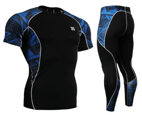 Комплект компрессионная футболка Fixgear и компрессионные штаны C2S-B1+P2L-B1