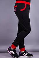 Спортик. Женские спортивные штаны больших размеров. Черный., фото 1