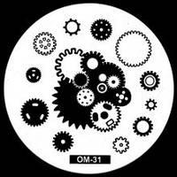 Пластина для стемпинга круглая, ОМ-31