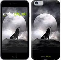 "Чехол на iPhone 6 Воющий волк ""934c-45"""