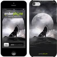 "Чехол на iPhone 5c Воющий волк ""934c-23"""