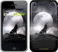 "Чехол на iPhone 3Gs Воющий волк ""934c-34"""