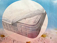 Наматрасник снежно белого цвета на широких резинках 160/200, фото 1