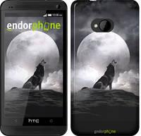 """Чехол на HTC One M7 Воющий волк """"934c-36"""""""