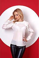 Ультра модная блуза белого цвета