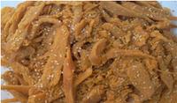 Мясо кальмара с кунжутом