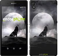 """Чехол на Sony Xperia Z2 D6502/D6503 Воющий волк """"934c-43"""""""