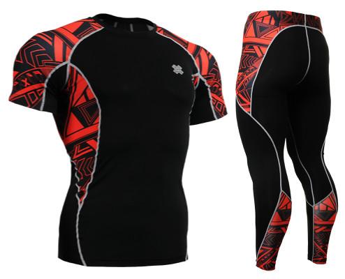 Комплект компрессионная футболка Fixgear и компрессионные штаны C2S-B2+P2L-B2