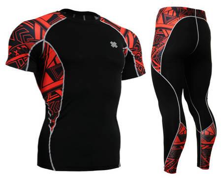 Комплект компрессионная футболка Fixgear и компрессионные штаны C2S-B2+P2L-B2, фото 2