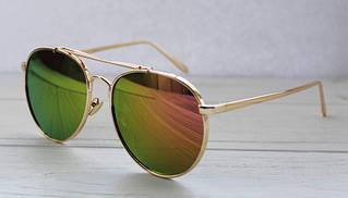 Зеркальные солнцезащитные очки унисекс в форме капли