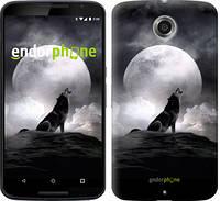 "Чехол на Motorola Nexus 6 Воющий волк ""934c-67"""