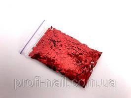 Ромбики для дизайна ногтей «Red» 5 г.