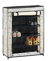 Тумба DAMHUS для обуви тканевая складная обувная полочка 68см