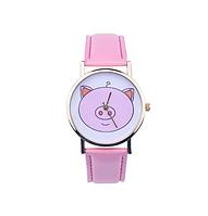 Часы женские наручные Поросёнок розовые арт. 0025