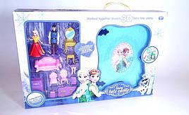 Замок Frozen набор принцессы, в книге-чемодане