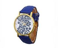 Женские часы синего цвета(8)