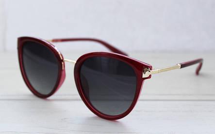 Изящные женские солнцезащитные очки в бордовом цвете, фото 2