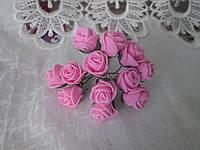 Роза 1,5 см рожевий