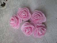 Роза 4 см, світло-рожевий