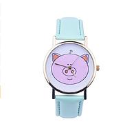Часы женские наручные Поросёнок мятные арт. 0025
