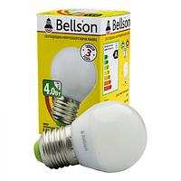 """Светодиодная LED лампа Bellson E27 4W """"ШАР"""""""