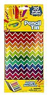 Набор из 30 коротких цветных карандашей в металической упаковке Crayola Collectible Pencil Tin