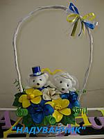 Кошик з ведмедиками та квітів з ненадутих (повітряних) кульок!