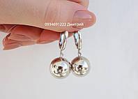 Серебряные серьги шары