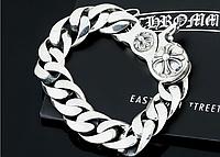 Мужской серебряный браслет Chrome Hearts Чистый 14 мм., 84,28 гр, 23,5 см