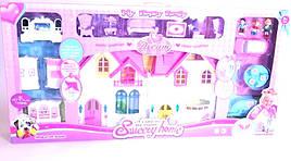 Домик игровой для девочек Sweety home с куклами, звук/свет