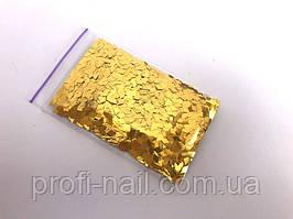 Ромбики для дизайна ногтей «Gold» 5 г.
