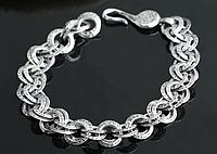 Мужской серебряный браслет Links Chrome Hearts 30,96 гр, 21,3 см