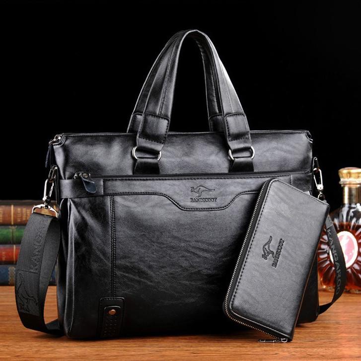 Мужская кожаная сумка. Модель 2019