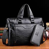 Мужская кожаная сумка для ноутбука. Модель 2019