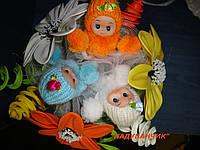 Букет з іграшок та квітів з ненадутих (повітряних) кульок!