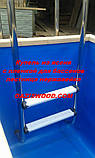 Мини бассейн - Купель ясень с вкладышем из ПВХ лайнера для бассейнов, фото 6