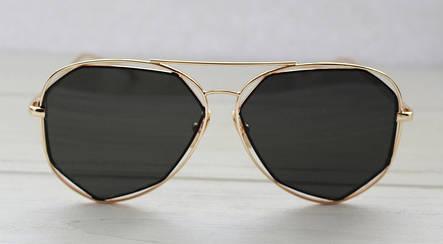 Женские утонченные солнцезащитные очки геометрической формы, фото 2