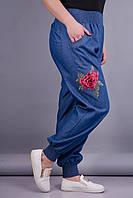 Герда джинс. Женские штаны больших размеров. Джинс., фото 1