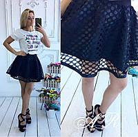 """Женская стильная юбка """"Горох"""" (3 цвета), фото 1"""