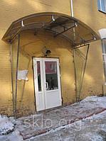 Навесы, козырьки из гнутого закаленного стекла.безопасное гнутое стекло., фото 1