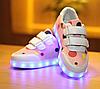 Детские розовые LED кроссовки Светящиеся