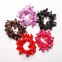 Резинка для волос набор  Подсолнухи 5 цветов яркие
