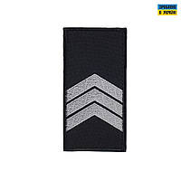 Погоны Сержант Полиции (пара) на липучке черные 10х5см