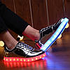 Серебряные LED кроссовки LEDKED Glance Silver светящиеся взрослые