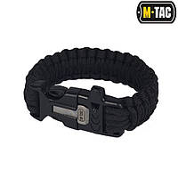 M-Tac браслет паракорд с искровысекателем и свистком Black