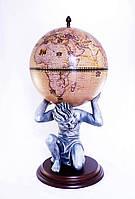 """Глобус-бар підлоговий """"Atlas"""" 42016N-WE бежевий"""