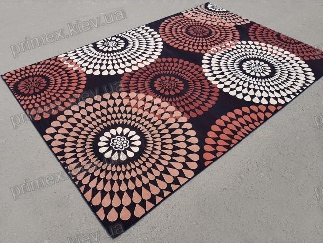 """Синтетичний килим """"Мозаїка"""" Cardinal, колір бежево-чорний"""